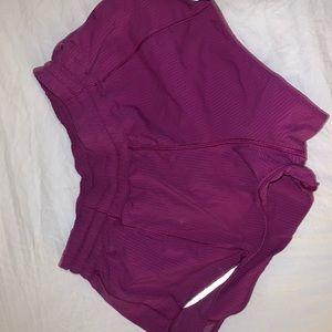 lululemon purple hottie hot shorts